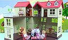 Будиночок для флоксовых тварин, меблі, фігурки тварин в комплекті Happy family 012-10, фото 10