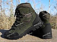 Качественные тактические ботинки Extreme-olive. Нубук+кордура. Разм: 40-45