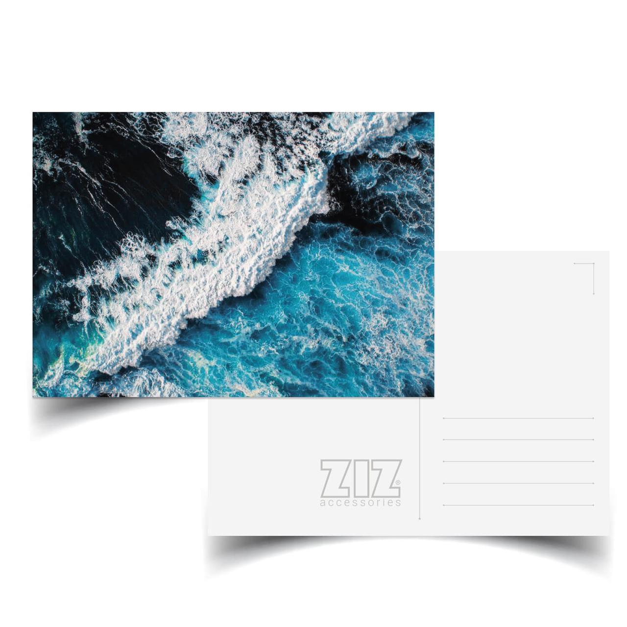 Открытка поздравительная ZIZ Океаническая волна