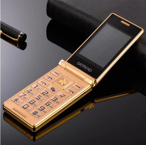 Кнопочный телефон раскладушка Tkexun A15 (Satrend A15, Dsfen A15) gold. Flip