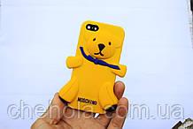 Противоударный силиконовый чехол Moschino Медвежонок iphone 5 5S SE