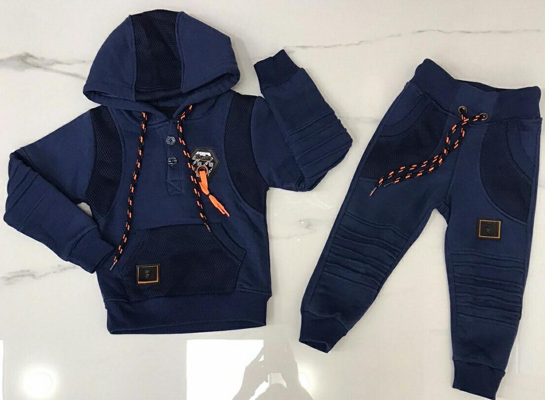 Детский костюм 1-4 года трехнитка для мальчиков Турция оптом
