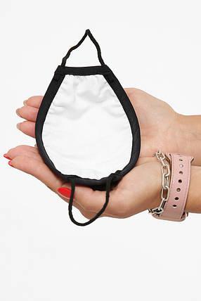 Захисна маска дитяча тканинна на резинці маска на підлітка з принтом, фото 2