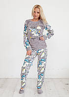 Красивая женская пижама с единорогом Турция wellsoft, фото 1