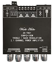 Плата усилитель TPA3116 2.1, 12-24В, 2x50Вт+100Вт, Bluetooth 5.0, AUX, ZK-TB21, фото 1