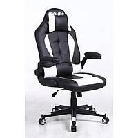 Кресло кожаное игровое геймерское для компьютера и офиса с системой качания TILT белое