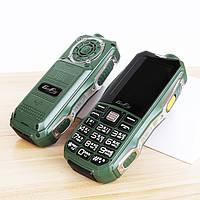 Защищенный противоударный кнопочный телефон H-Mobile 6800 (GoFly 6800) green-silver