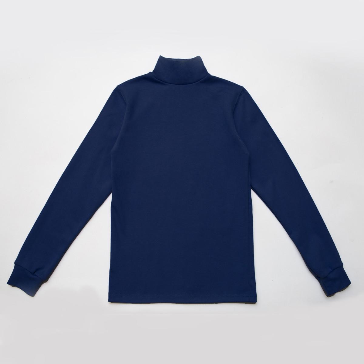 Водолазка детская синяя SmileTime классическая Classic, темно-синяя