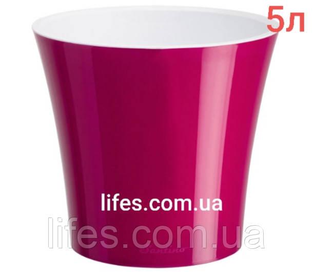 Вазон Арте пластик малиновий 5л