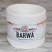 Трикотажная пряжа BARWA light 5-7 мм, Молочный