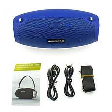 Портативная Bluetooth колонка Hopestar H26 mini, синяя, фото 3