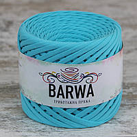 Трикотажная пряжа BARWA light 5-7 мм, цвет Циан