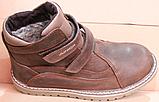 Ботинки зимние подростковые на липучках от производителя модель АМП100-5, фото 4
