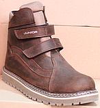 Ботинки зимние подростковые на липучках от производителя модель АМП100-5, фото 2