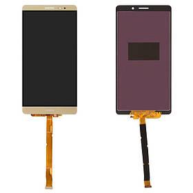 Дисплей (экран) для Huawei Mate 8 NXT-L29A з сенсором (тачскріном) золотистый