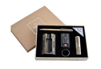 Подарочный набор Moongrass 4в1 -зажигалка/пепельница/брелок/ручка MTD-49