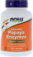 Поддержка пищеварения Now Foods - Papaya Enzymes (180 леденцов)