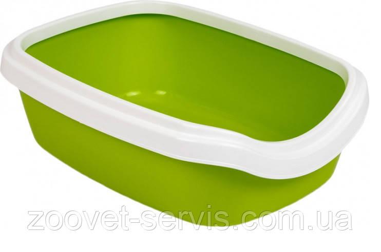 Туалет для котов ТМ Природа Comfort M 41 х 30 х 13,5 см Лайм