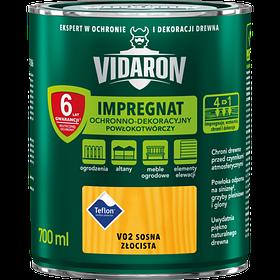 Импрегнат пропитка декоративная V02 Vidaron СОСНА ЗОЛОТАЯ 0,7