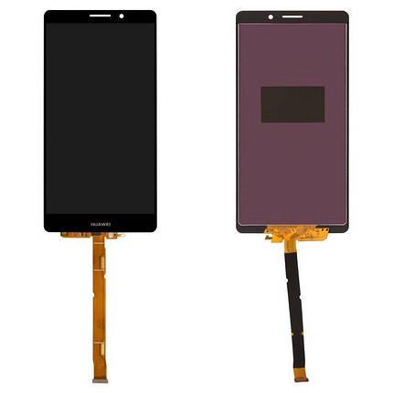 Дисплей (экран) для Huawei Mate 8 NXT-L09 с сенсором (тачскрином) черный, фото 2