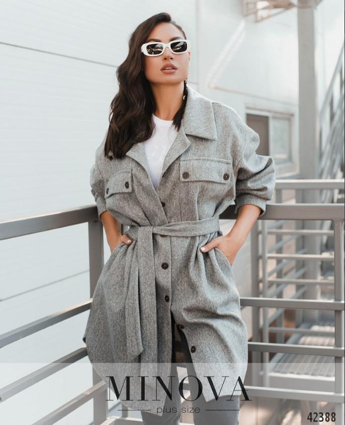 Стильное пальто без подкладкиа большие размеры Украина Размеры: 52-54, 56-58