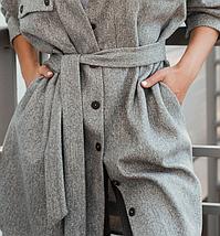 Стильное пальто без подкладкиа большие размеры Украина Размеры: 52-54, 56-58, фото 3