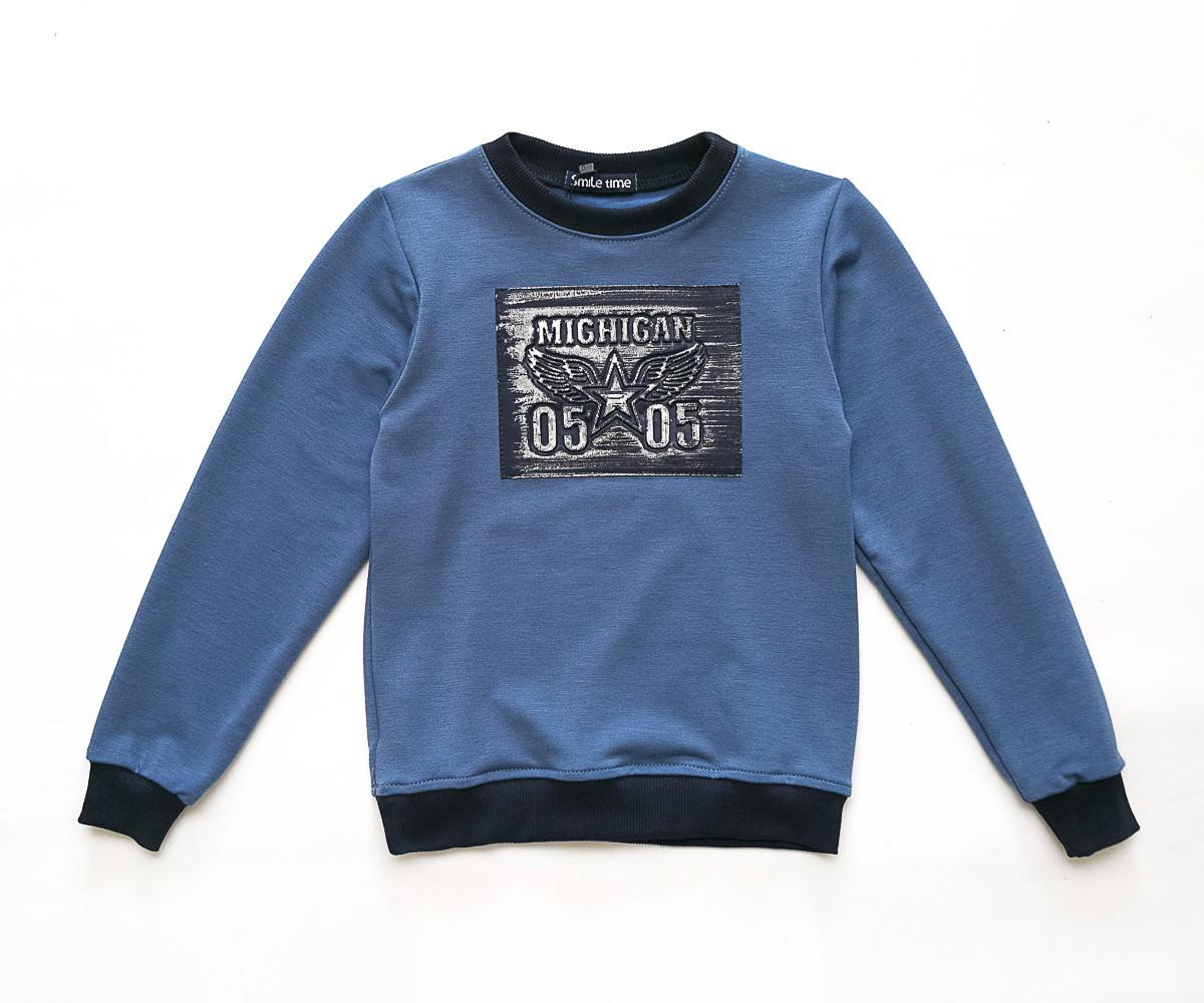 Свитшот для мальчика детский SmileTime Michigan, джинс