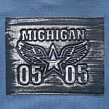 Свитшот для мальчика детский SmileTime Michigan, джинс, фото 3