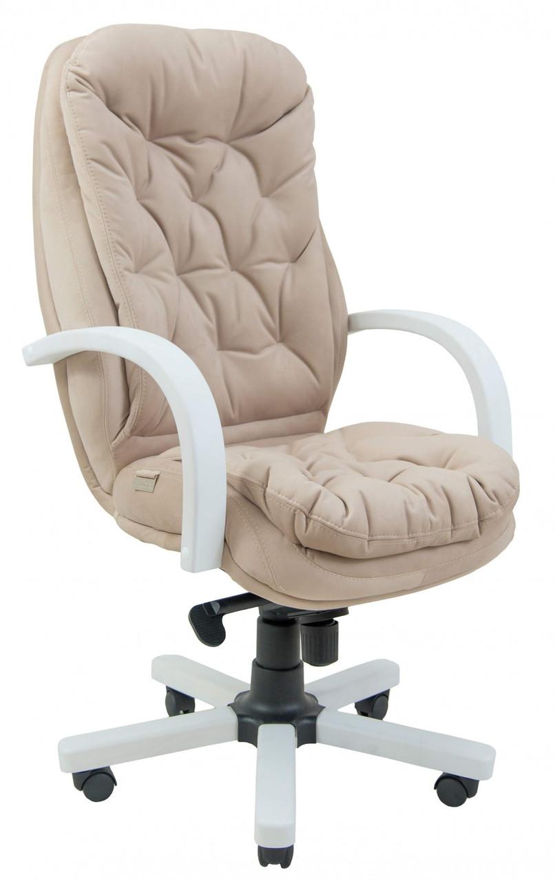 Офисное Кресло Руководителя Richman Венеция Мисти Mocco Wood White М2 AnyFix Бежевое