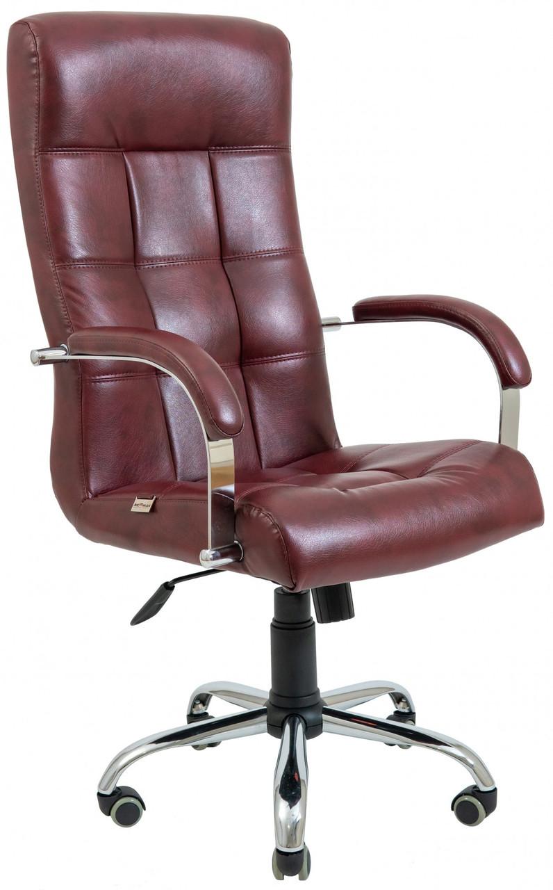 Офисное Кресло Руководителя Richman Вирджиния Мадрас Bordo Хром М3 MultiBlock Бордовое