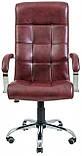 Офисное Кресло Руководителя Richman Вирджиния Мадрас Bordo Хром М3 MultiBlock Бордовое, фото 2