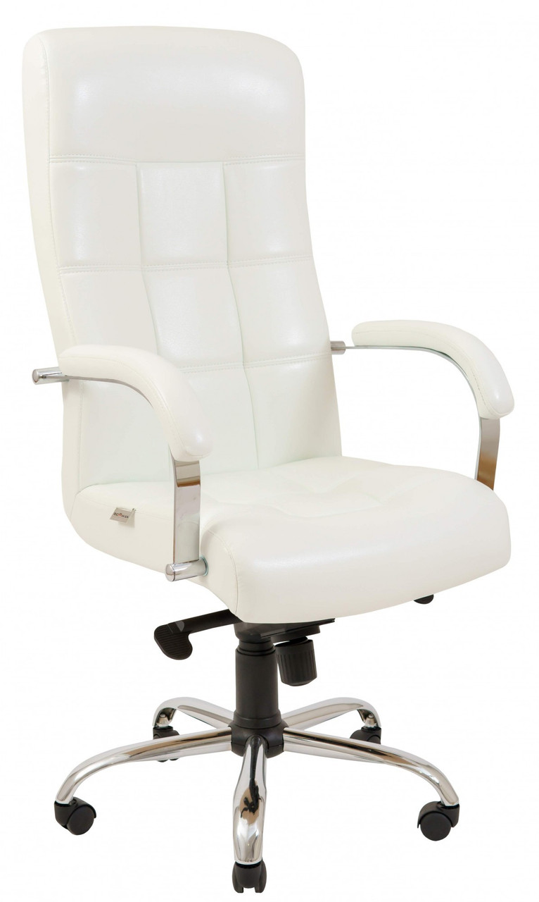 Офисное Кресло Руководителя Вирджиния Лаки White Хром М1 Tilt Белое