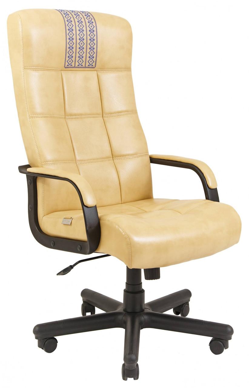Офисное Кресло Руководителя Richman Вирджиния Титан Yellow (Без Принта) Пластик Рич М2 AnyFix Бежевое