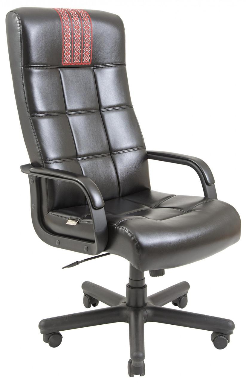 Офісне Крісло Керівника Richman Вірджинія Титан Black (Без Принта) Пластик Річ М3 MultiBlock Чорне