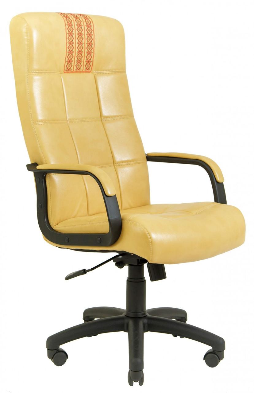 Офисное Кресло Руководителя Richman Вирджиния Титан Gold Beige (Без Принта) Пластик Рич М3 MultiBlock Бежевое