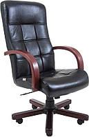 Офисное Кресло Руководителя Вирджиния Титан Black Wood М2 AnyFix Черное