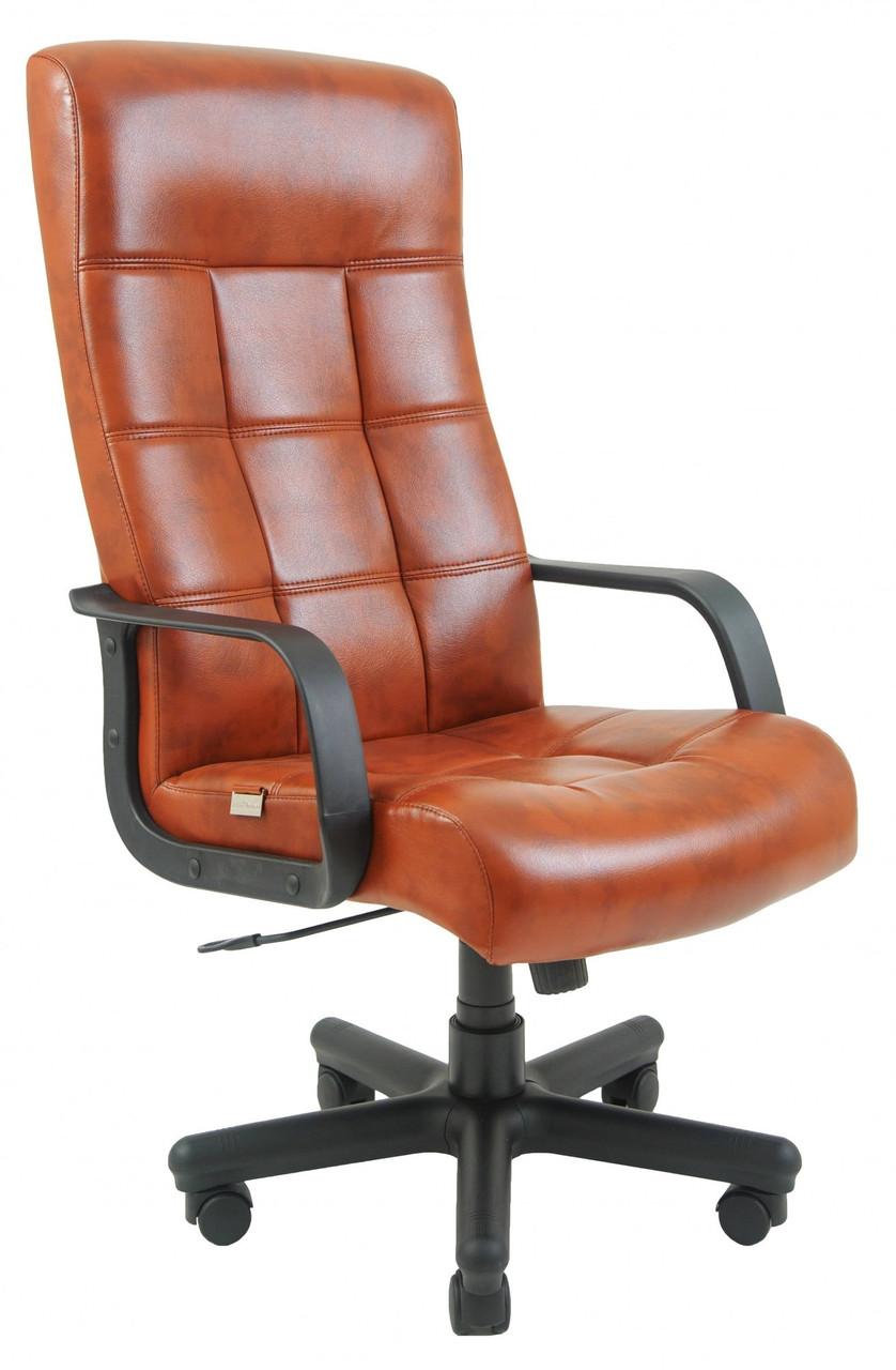 Офисное Кресло Руководителя Richman Вирджиния Мадрас Cognac Пластик М3 MultiBlock Коричневое