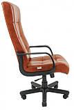 Офисное Кресло Руководителя Richman Вирджиния Мадрас Cognac Пластик М3 MultiBlock Коричневое, фото 3