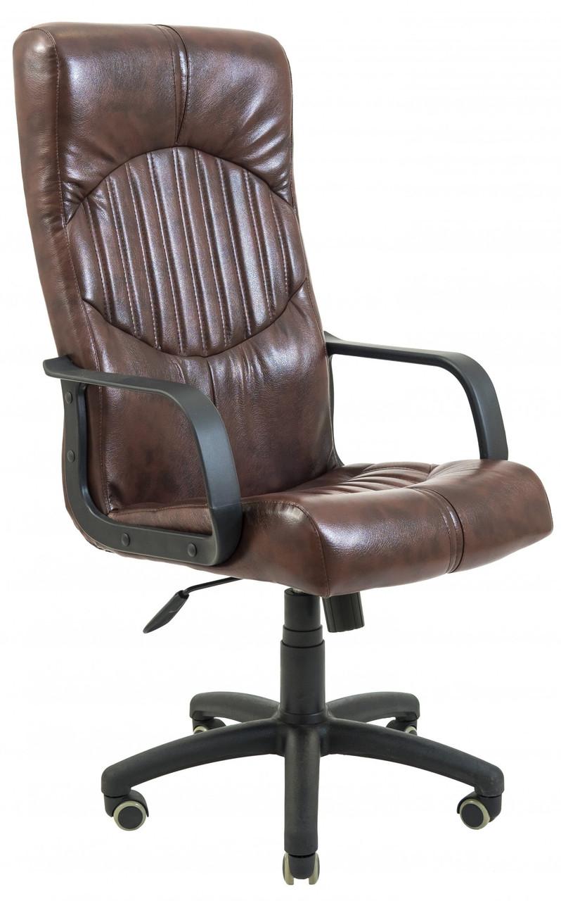 Офисное Кресло Руководителя Гермес Титан Kashtan ПлаStick М1 Tilt Коричневое