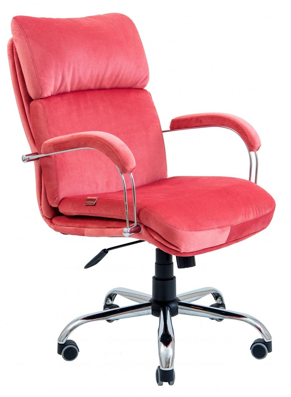 Офисное Кресло Руководителя Dakota Lounge Coral Хром М2 AnyFix Алое