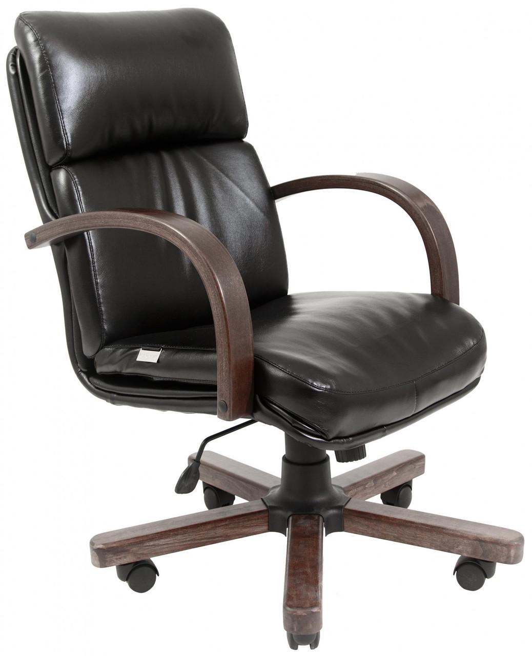 Офисное Кресло Руководителя Dakota Fly 2230 Wood М2 AnyFix Черное