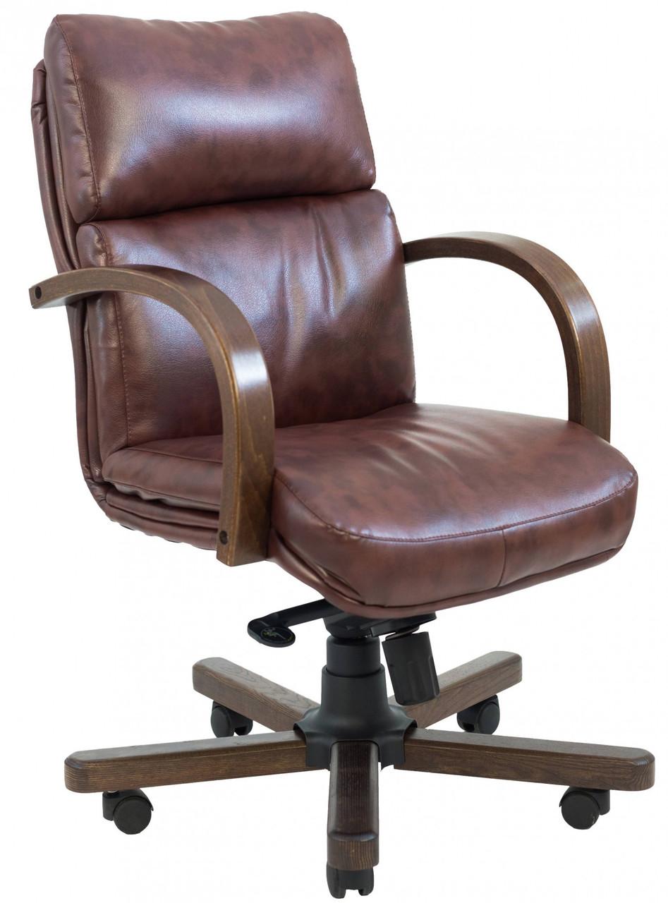 Офисное Кресло Руководителя Richman Дакота Мадрас Dark Brown Wood М1 Tilt Коричневое