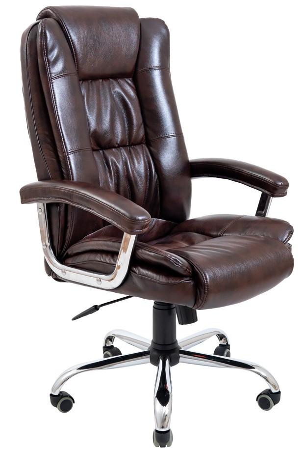 Офісне Крісло Керівника Richman Каліфорнія Мадрас Dark Brown Хром М2 AnyFix Коричневе