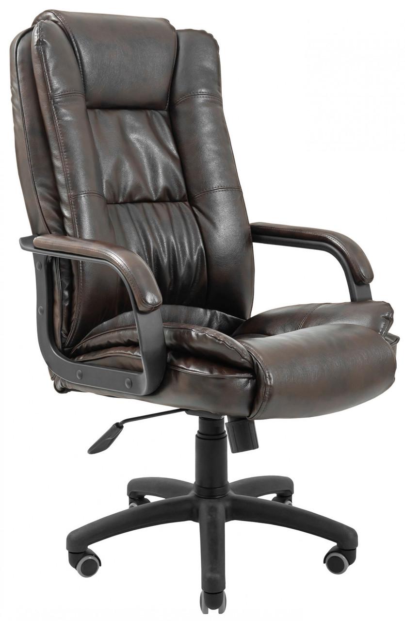 Офисное Кресло Руководителя California Титан Dark Brown ПлаStick Рич М1 Tilt Коричневое
