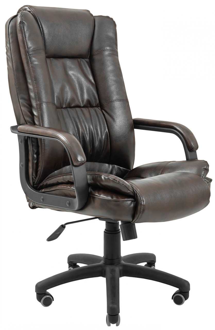 Офисное Кресло Руководителя California Титан Dark Brown ПлаStick Рич М2 AnyFix Коричневое