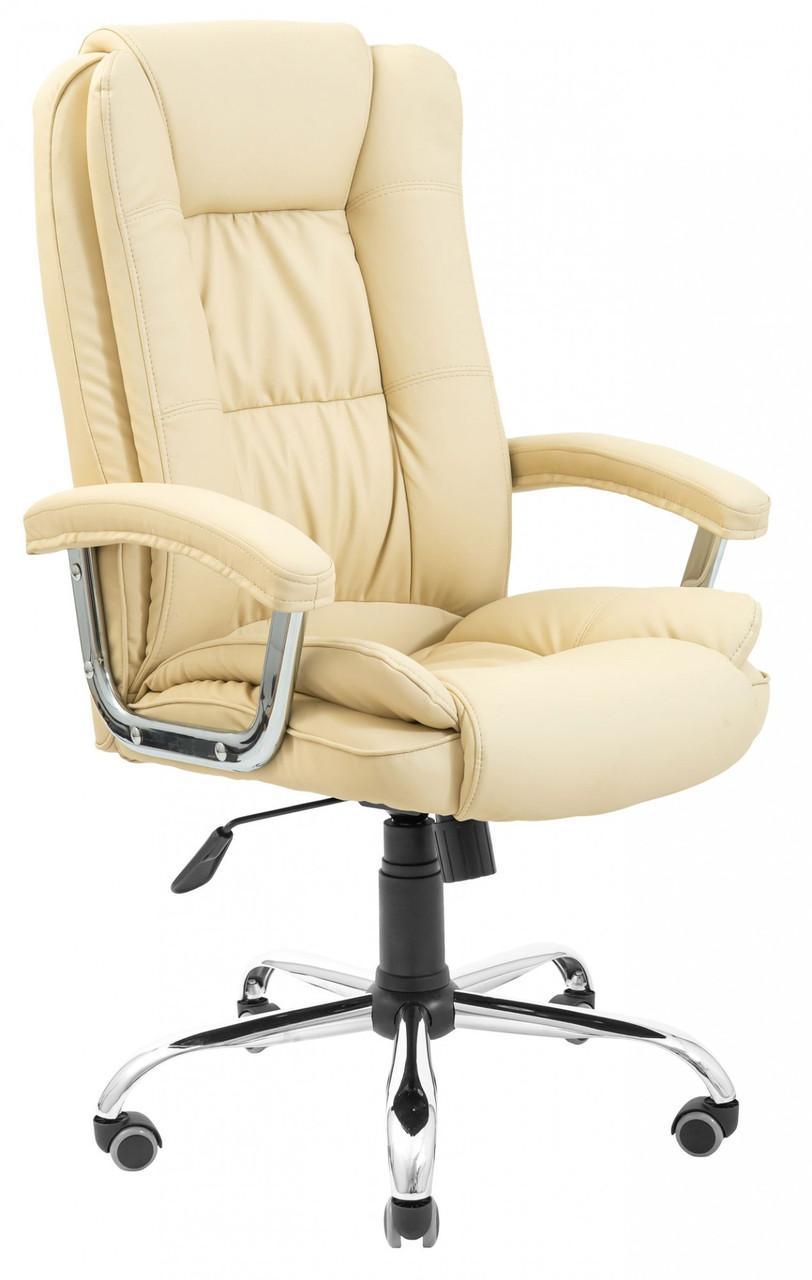 Офисное Кресло Руководителя California Fly 2207 Хром М3 MultiBlock Бежевое