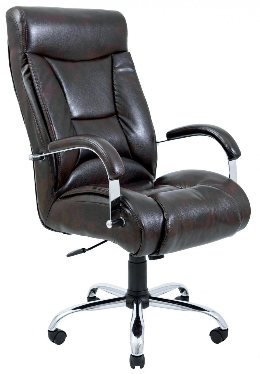 Офисное Кресло Руководителя Richman Магистр Титан Dark Brown Хром М2 AnyFix Коричневое