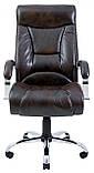Офисное Кресло Руководителя Richman Магистр Титан Dark Brown Хром М2 AnyFix Коричневое, фото 2