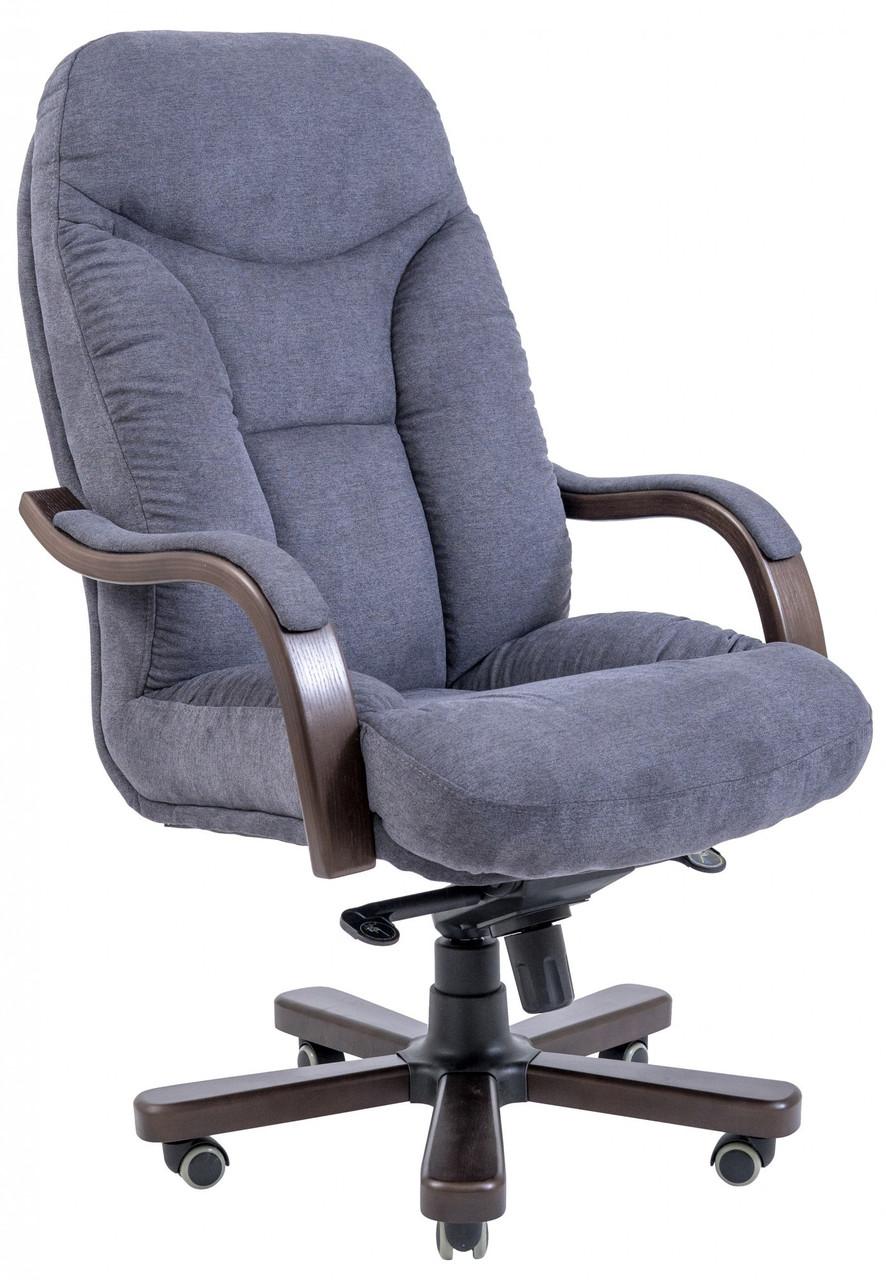 Офисное Кресло Руководителя Maximus Мисти Dark Grey Wood Lux М1 Tilt Серое