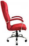 Офисное Кресло Руководителя Richman Никосия Cervo 42 Хром М2 AnyFix Красное, фото 3